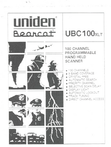 BEARCAT UBC3000XLT Hand Held Scanner Owner's Manual