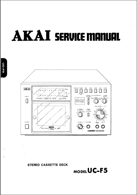 AKAI UC-F5 Service Manual