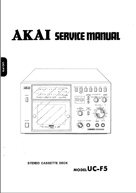 AKAI UC-F5 BW Service Manual