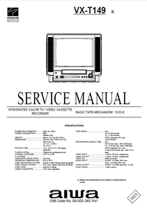 AIWA VX-T149 K Integ Color TV Video Recorder Service Manual