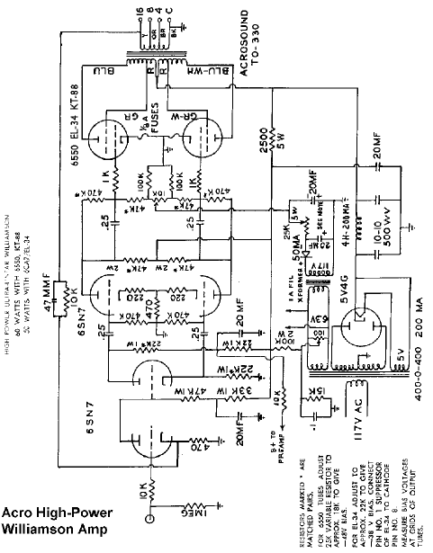 Acrosound Williamson Schematic