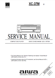 AIWA XC-37M Revision Compact Disc Service Manual