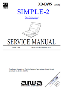 AIWA XD-DW5 AHK-S Simple 2 Service Manual