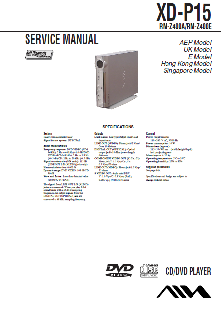 AIWA XD-P15 Service Manual