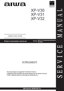 AIWA XP-V30-V31-V32 CD Player Supplement Manual