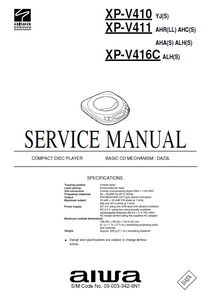 AIWA XP-V410 Compact Disc Player Service Manual