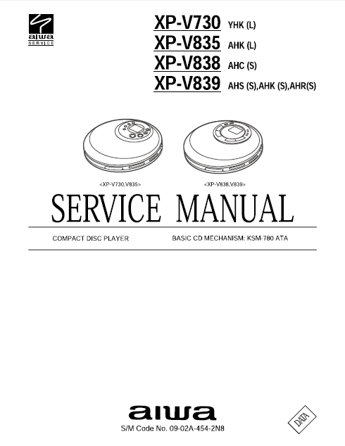 AIWA Compact Disc Player Service Manual