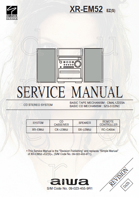 AIWA XR EM52 CD Stereo System Revision Service Manual