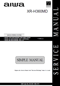 AIWA XR-H360MD Simple MD-CD Stereo System Service Manual