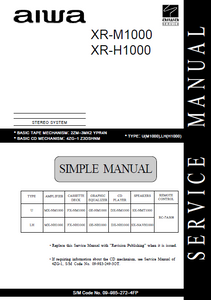 AIWA XR-M1000 Stereo System Simple Service Manual