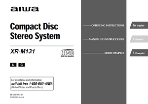 AIWA XR-M131 Compact Disc Stereo System Operations Manual