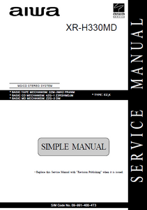 AIWA XR-H330MD CD Stereo System Simple Service Manual