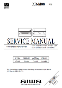 AIWA XR-M88 U CD Stereo System Revision Service Manual