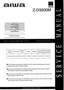 AIWA Z-D3200M Stereo System Service Manual