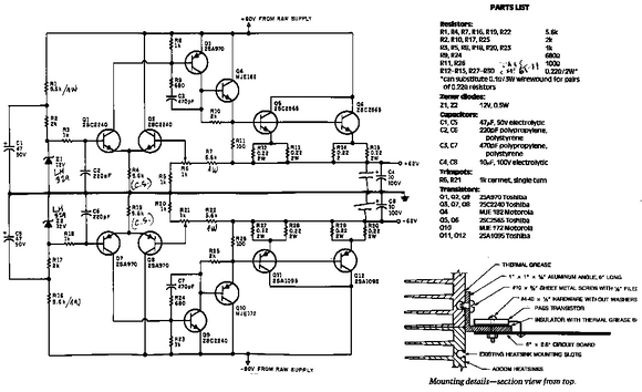 ADCOM 555 Parts List with Schematics