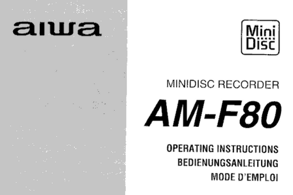 AIWA AM-F80 Owners Manual