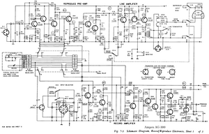 AMPEX AG-300 Record Amplifier Schematics