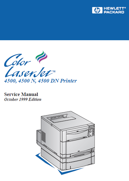 Hewlett Packard Color LaserJet 4500 Printer Service Manual