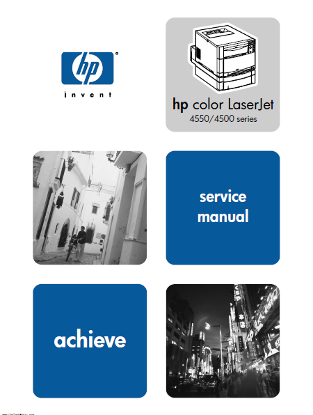 Hewlett Packard Color LaserJet 4550-4500 series achieve Service Manual