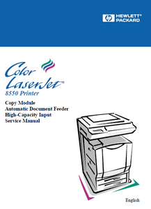 Hewlett Packard Color LaserJet 8550 Automatic Documents Feeder Service Manual