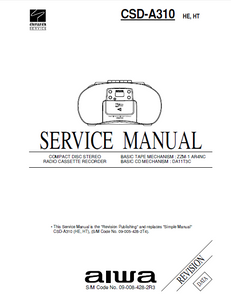 AIWA csd-a310 HE-HT Revision Compact Disc Service Manual