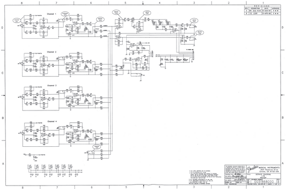 FENDER LTB Power Amp Schematics