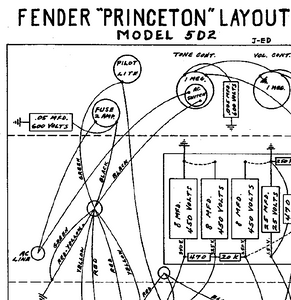 Fender Princeton 5D2 Layout