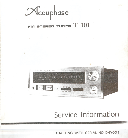 Accuphase T-101 Service Manual
