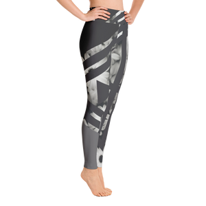 Flower Block Yoga Pants