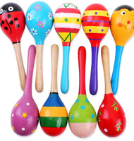 1 pcs Kids Wooden Ball Rattle Toy Sand Hammer For Baby 0-12 Month