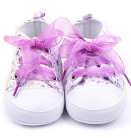 Baby Girls Cotton Floral Soft Sole Shoe - Babies Are Beautiful Store