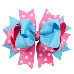 Kids Hair Clips Dot Bow Hairband