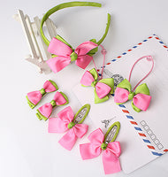 7pcs of Lovely Baby Girls Hair Accessories (Hairband, Hairpins, Gum for Hair, Bow) - Babies Are Beautiful Store