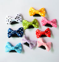 10 Pcs/lot Solid Dot Pringting Mini Small Bow Hair Clips Hair Clips Kids Hair Accessories - Babies Are Beautiful Store