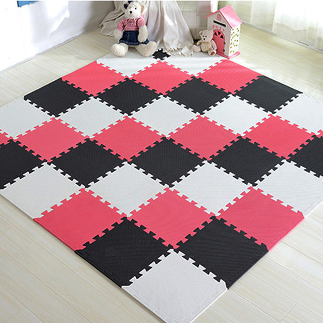 Play Puzzle Mat, Interlocking Exercise Tiles Floor Carpet Rug for Kid
