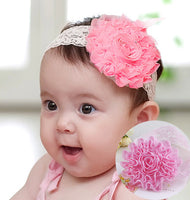 1PC New High Quality Cute Kids Headband Big Flowers Lace - Babies Are Beautiful Store