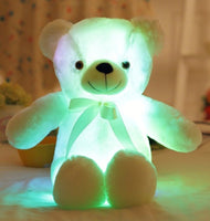 Colorful Glowing Stuffed Teddy Bear Christmas Gift for Kids