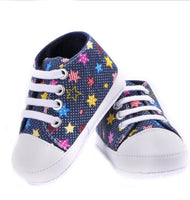 Unisex baby rainbow canvas shoes