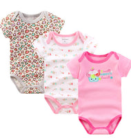 3 pcs/lot Baby Short Sleeve Bodysuits
