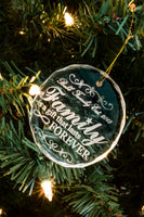 Crystal Circle Christmas Ornament