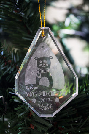 Crystal Snowman Christmas Ornament