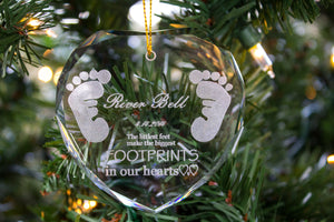 Crystal Heart Christmas Ornament