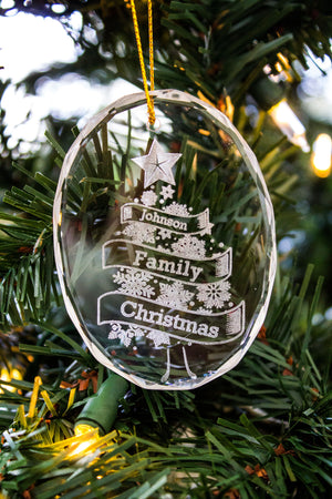 Crystal Oval Christmas Ornament
