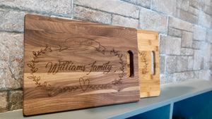 Personalized Cutting Board - 3 Wood Choices