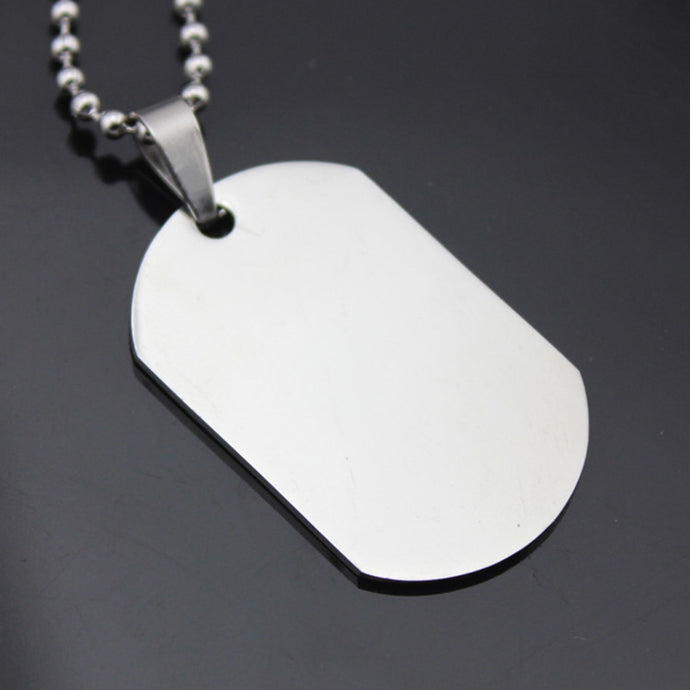 Military Army Stainless Steel Necklace