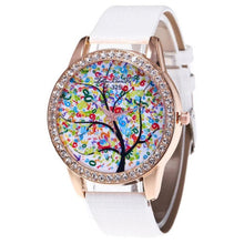 ZHOULIANFA Tree Colorful Leather Band Watch