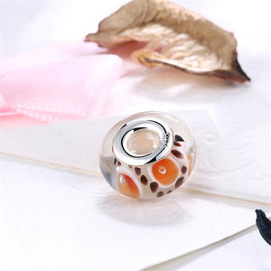 925 Sterling Silver European Style Murano Glass Spot Beads Fit Pandora Bracelet