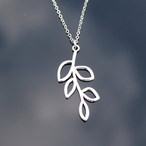 Unisex Leaf Statement Pendant Necklace