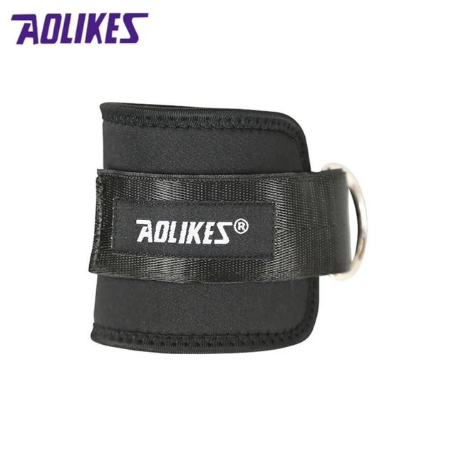 Adjustable Protection Ankle Guard Strap D-ring Thigh Leg Pulley