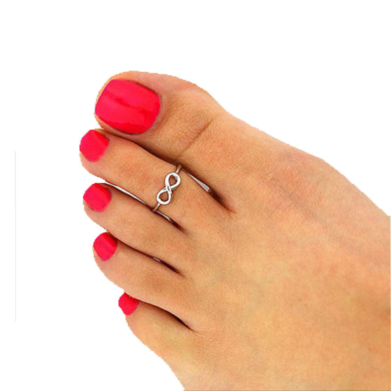 SUSENSTONE Foot Infinity 2PC Adjustable Ring